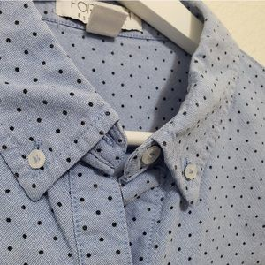 Forever 21 Dots French Blue Office Interview Top L